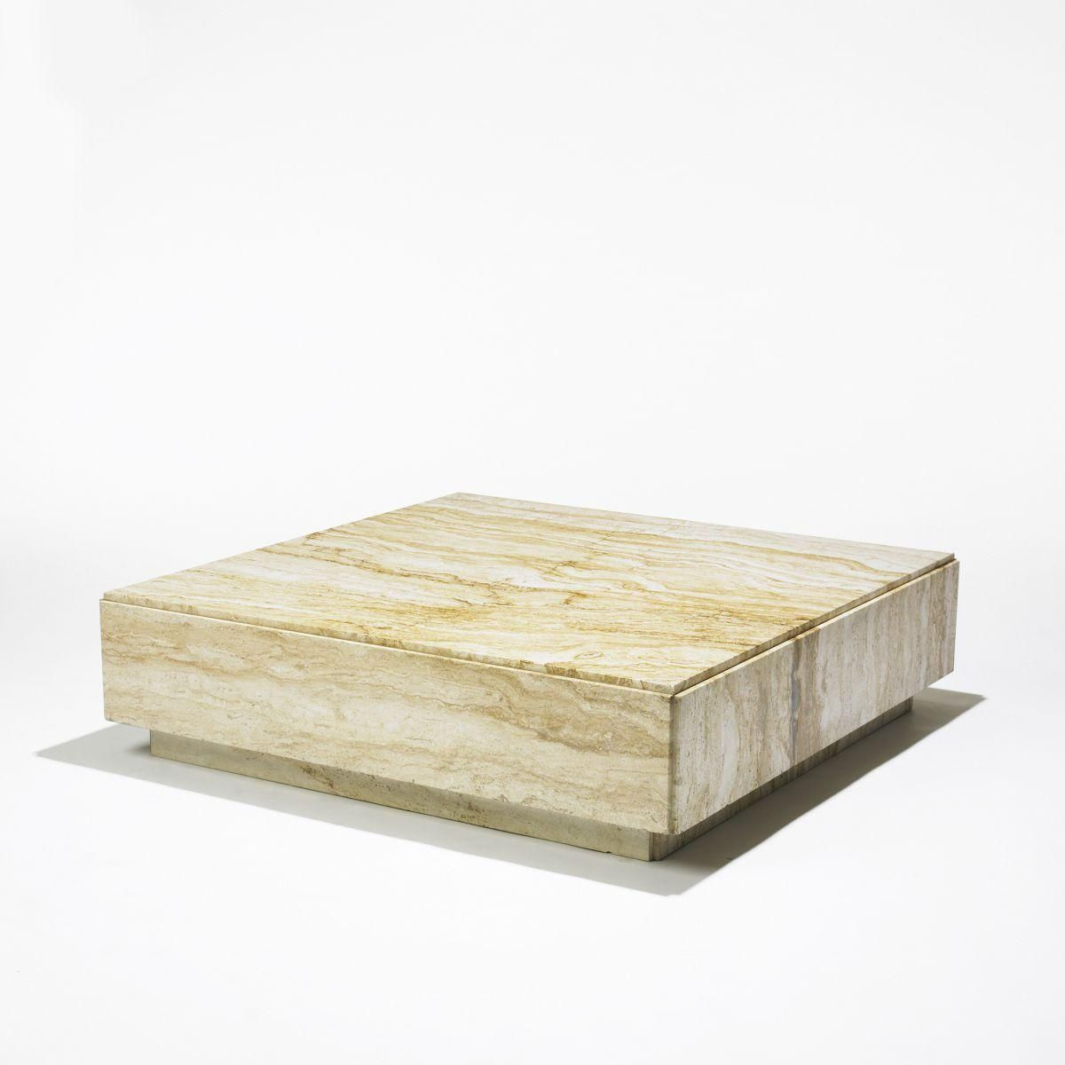 Low marble coffee table for a west village bachelor pad low marble coffee table geotapseo Gallery