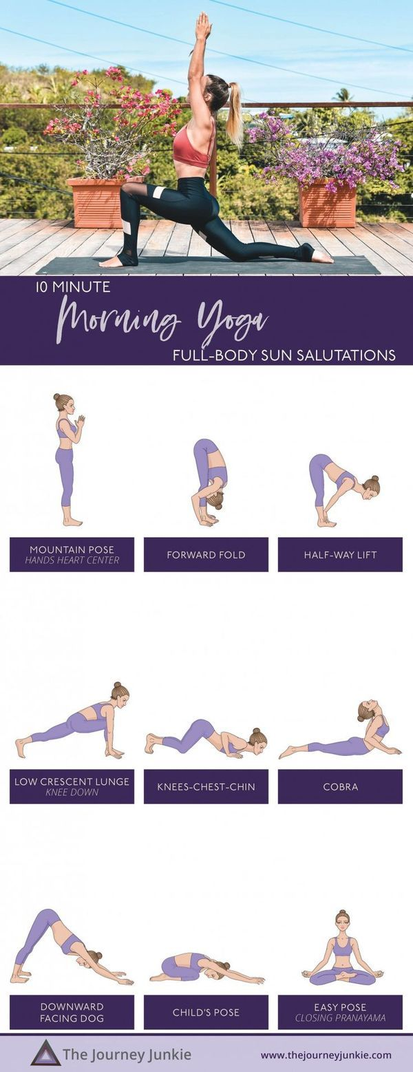 10 Minute Morning Yoga Practice Full Body Sun Salutations To Start Your Day The Journey Junkie 10 Minute Morning Yoga Morning Yoga Gentle Yoga Class