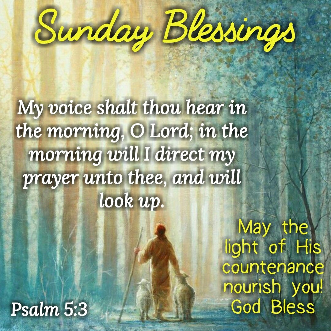 Sunday Blessings (Psalm 5:3)