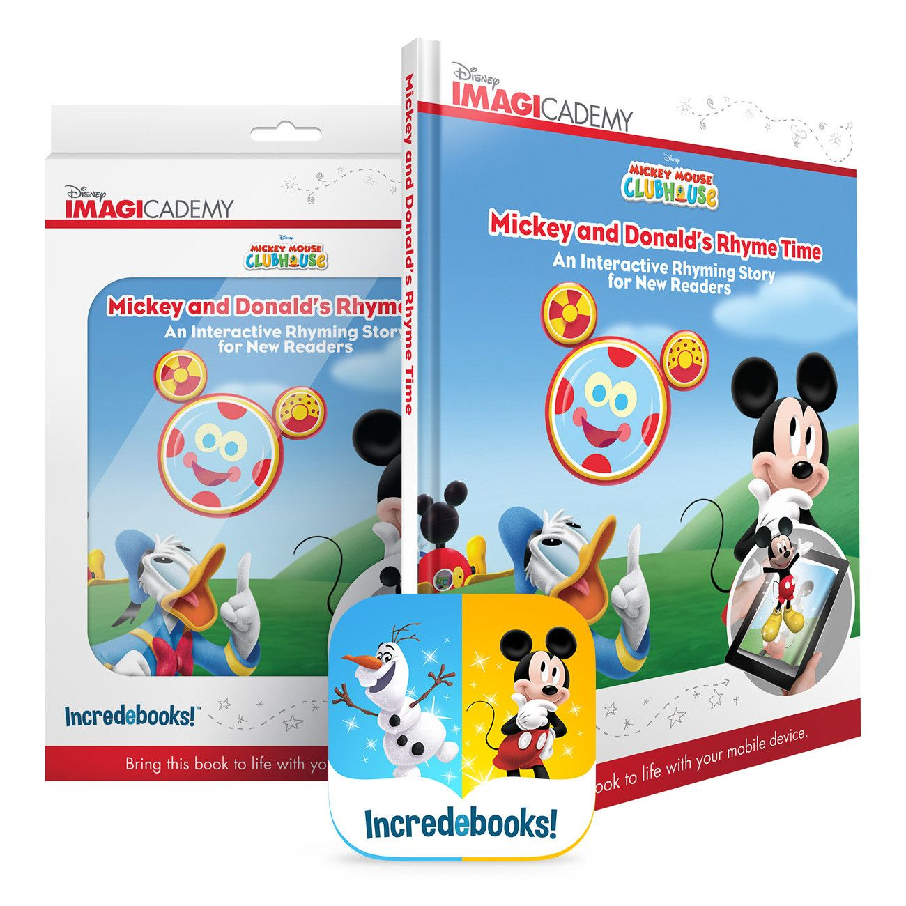 Mickey and Donald\'s Rhyme Time - Augmented Reality Educational book ...
