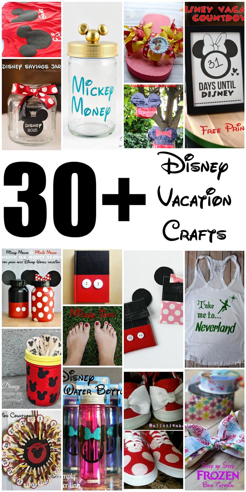 30+ DIY Disney Crafts for a Disney Vacation - Poof