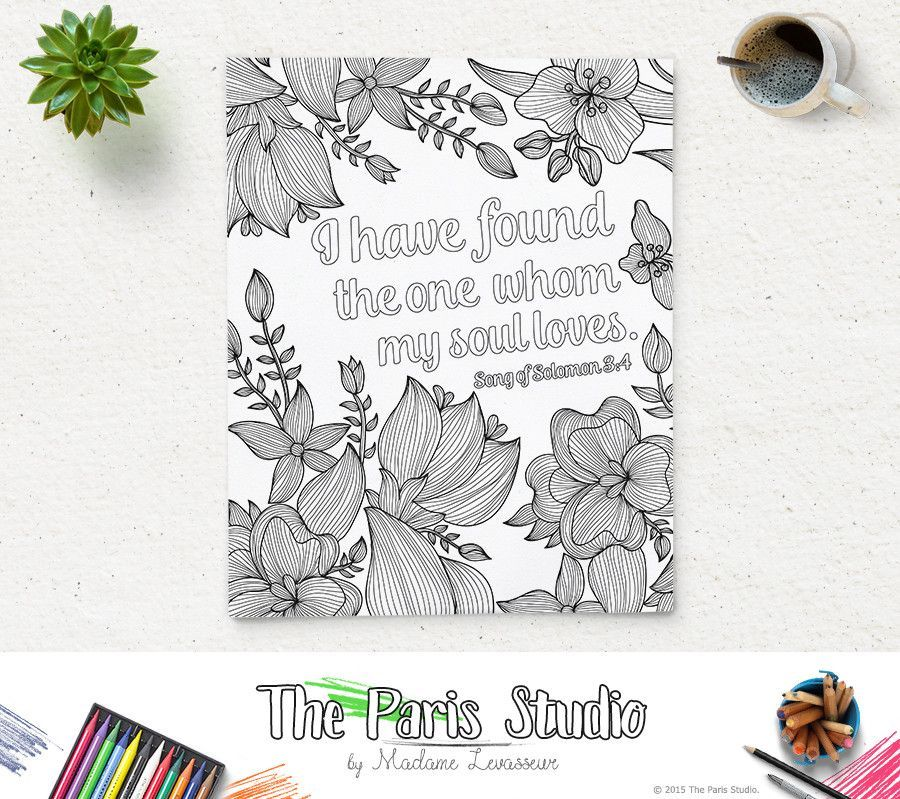 Printable Coloring Page Bible Verse Song of Solomon 3:4