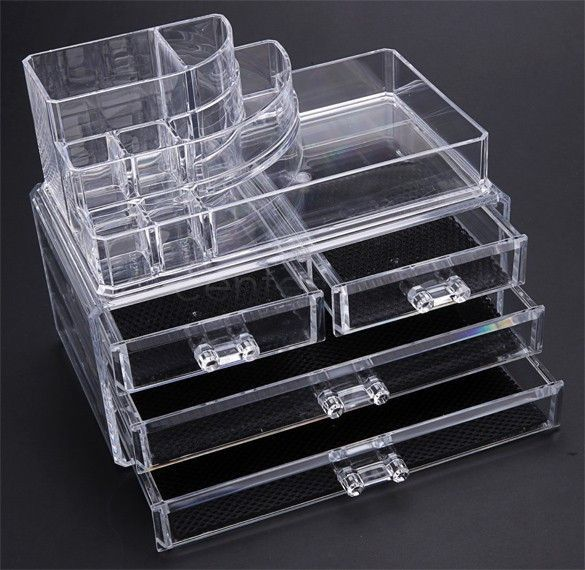 Acrylic Cosmetic Organizer Jewelry Box Makeup Display Makeup