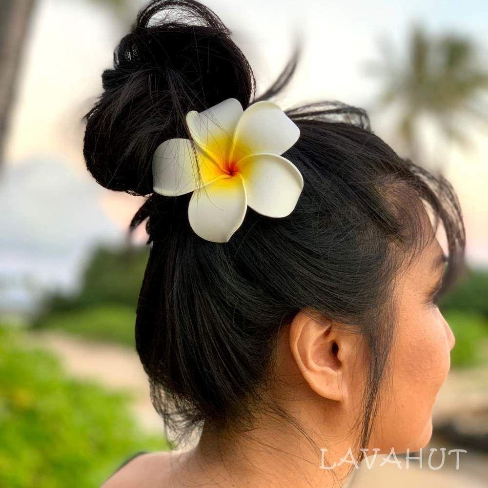 Ear Love Plumeria Flower Blossom Flowers In Hair Flower Hair Clips Blossom Flower