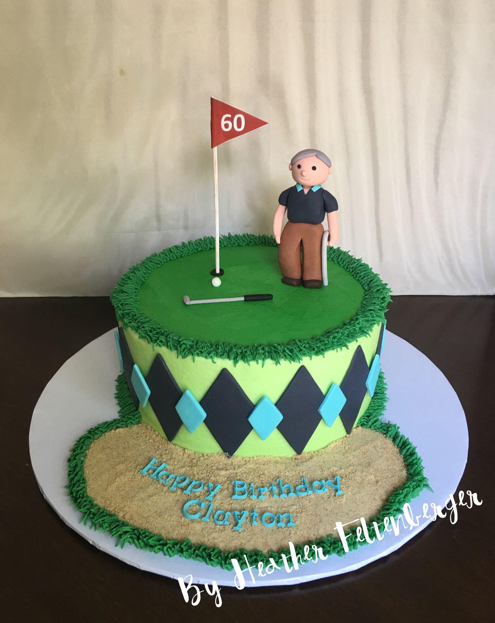 Old Man Golfing 60th Birthday Cake My Cakes Pinterest 60th