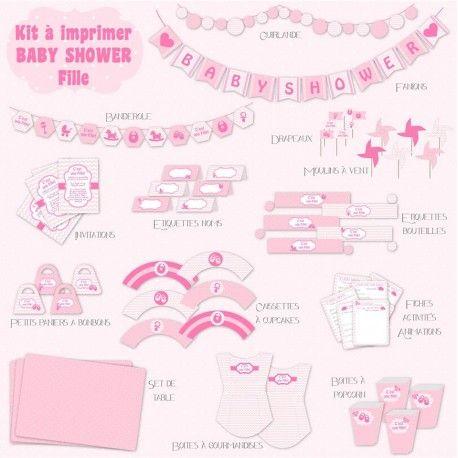 Décorez votre baby Shower avec nos kit à imprimer Décoration Anniversaire  Minnie, Décoration Anniversaire Bébé