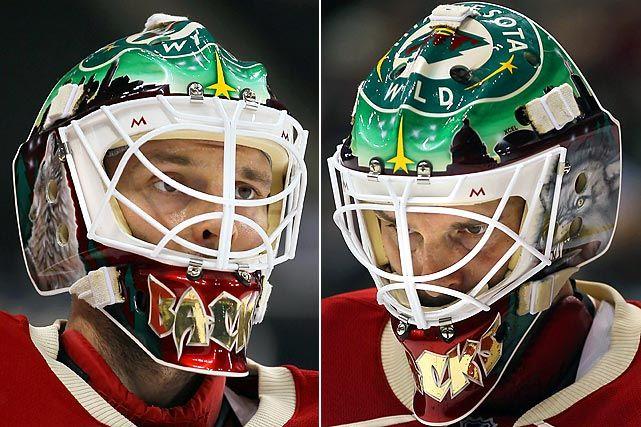 White Ring Inside Of Cage Goalie Mask Goalie Wild Hockey
