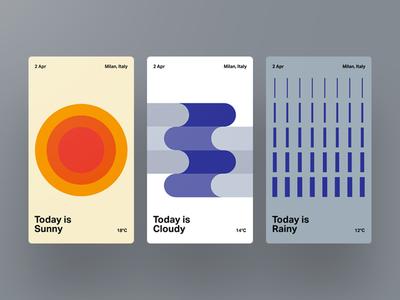 Weather App Swiss Style Web App Design Mobile Design Swiss Style