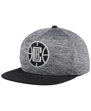 buy popular 97963 493eb Mitchell   Ness Los Angeles Clippers Space Knit Snapback Cap - Gray Heather  Adjustable