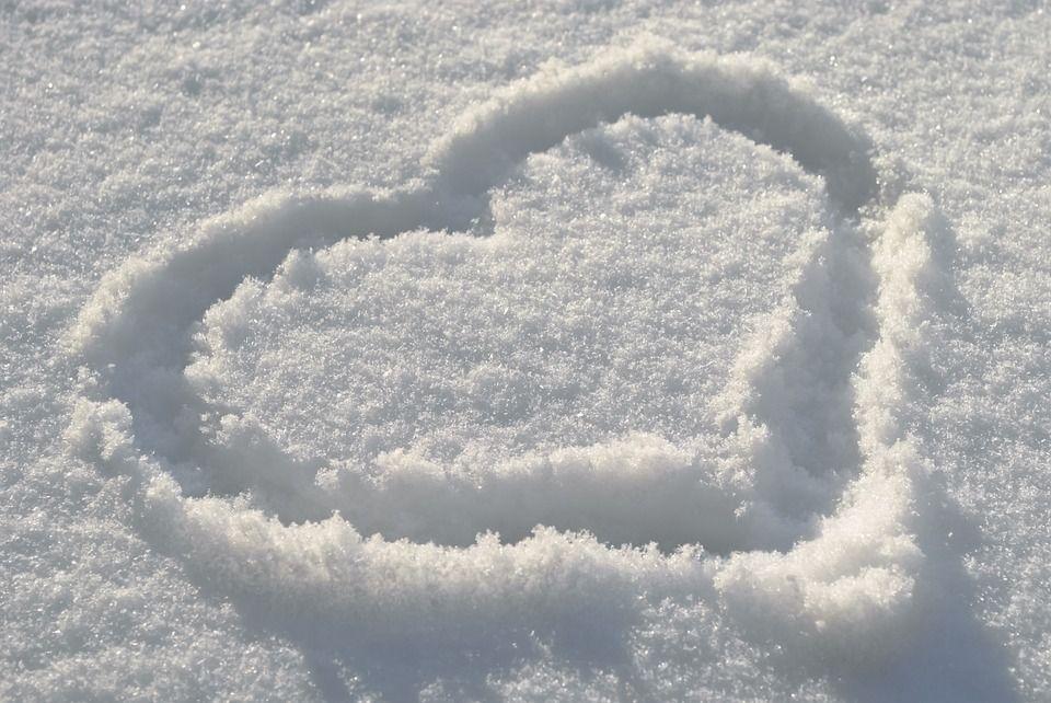 Kostenloses Bild Auf Pixabay Winter Schnee Herz Gute Nacht