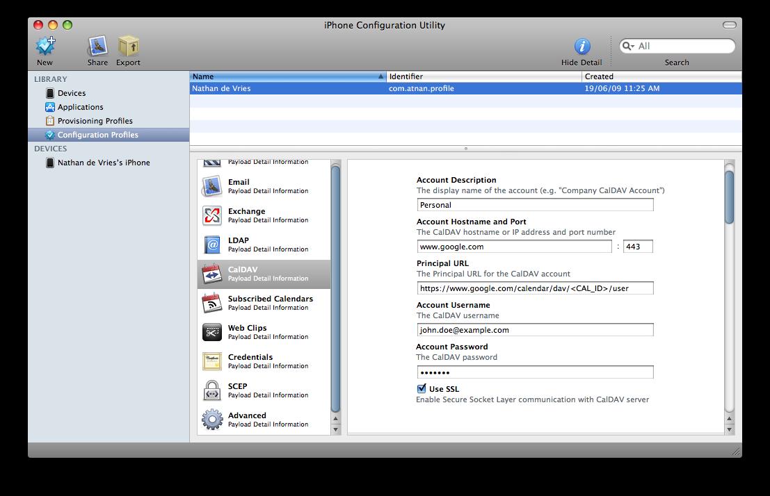 Multiple Google Calendar Configuration for iPhone | iFriends