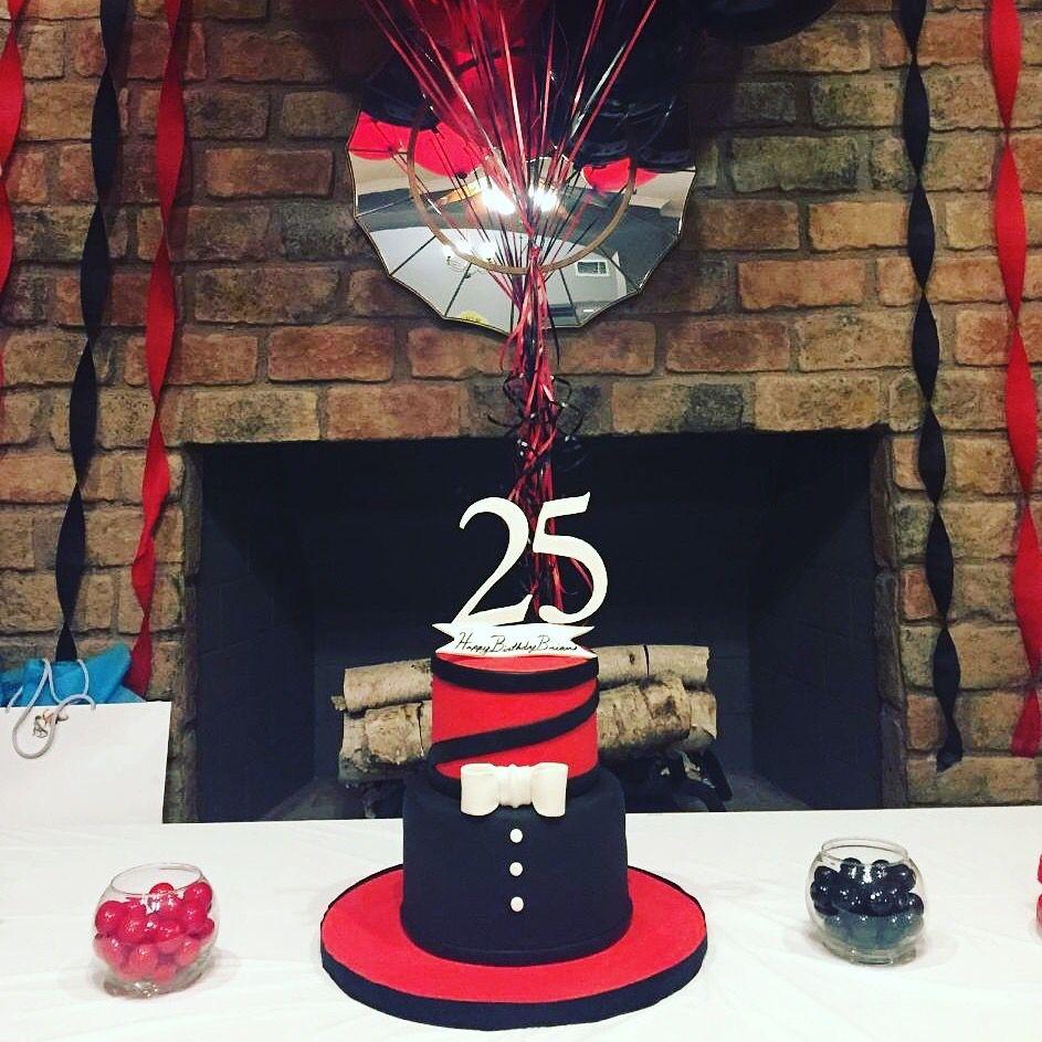 Amazing Gentlemen Cake Red Black White Cake Guy Cake Classy Cake White Birthday Cards Printable Giouspongecafe Filternl