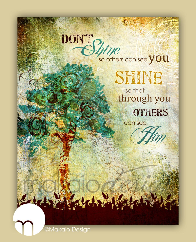 Christian Tree Art, Inspirational Tree Art, Whimsical Tree ...
