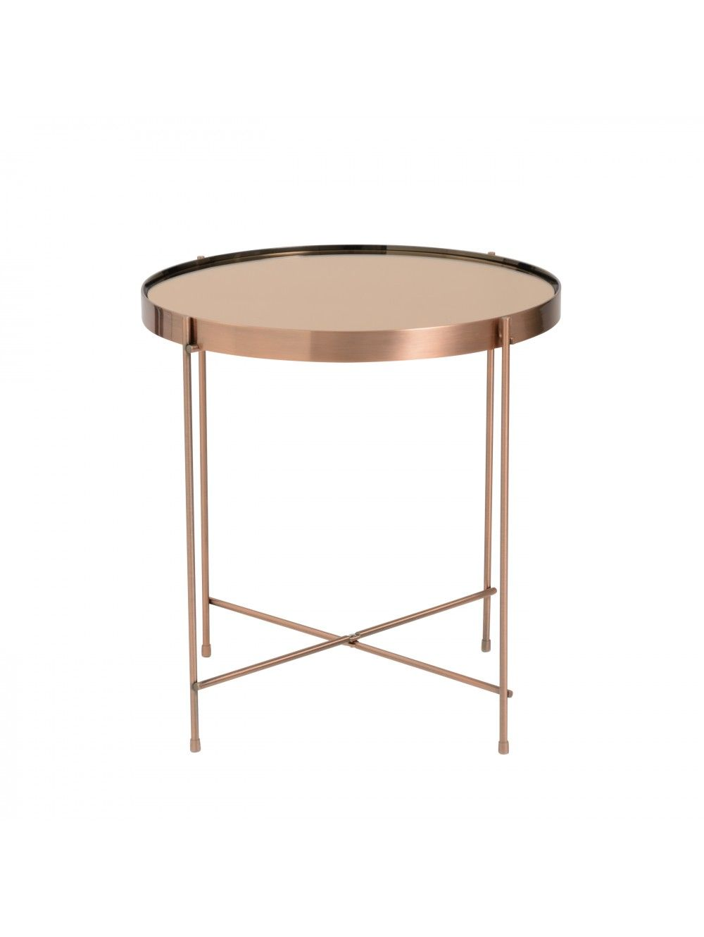 Theo Side Table Copper Glass Side Tables Round Side Table