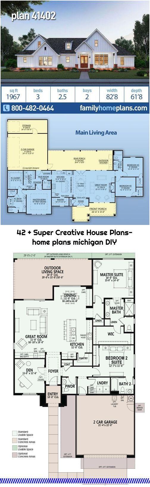 42 Super Creative House Plans Home Plans Michigan Diy House Plans Farmhouse House Plans Family House Plans