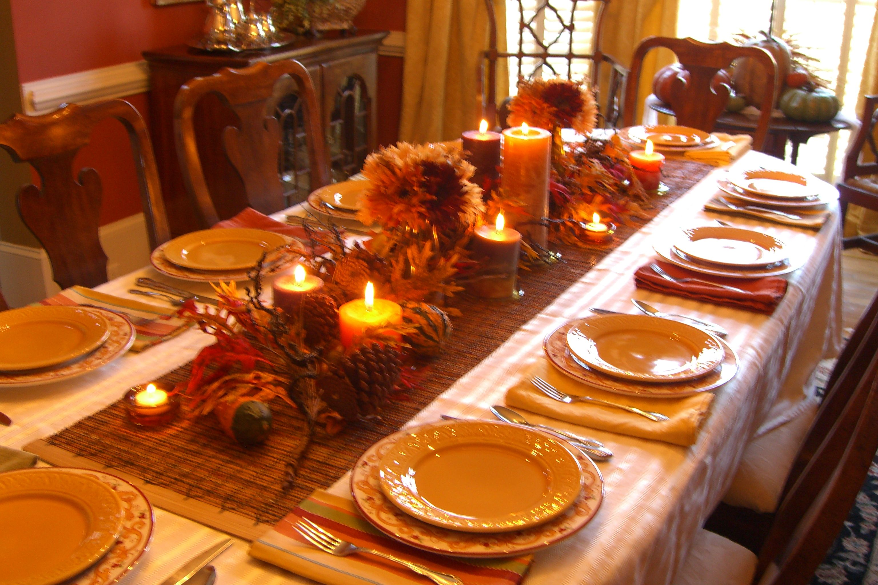 The Result Is A Beautiful Thanksgiving Table With A Bonus Description From Designf Thanksgiving Table Decorations Simple Thanksgiving Table Thanksgiving Table