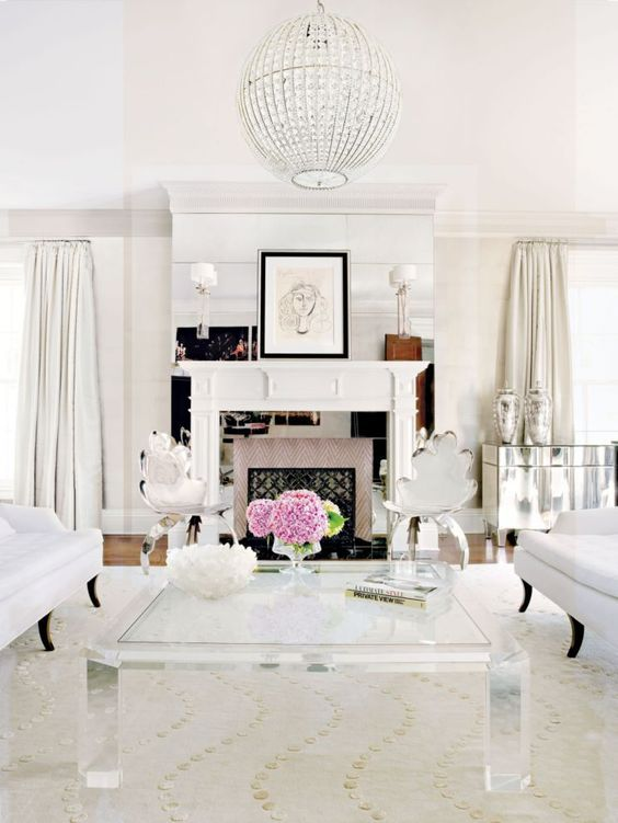 This Glamorous White Living Room Was Completed By Lynne Scalo