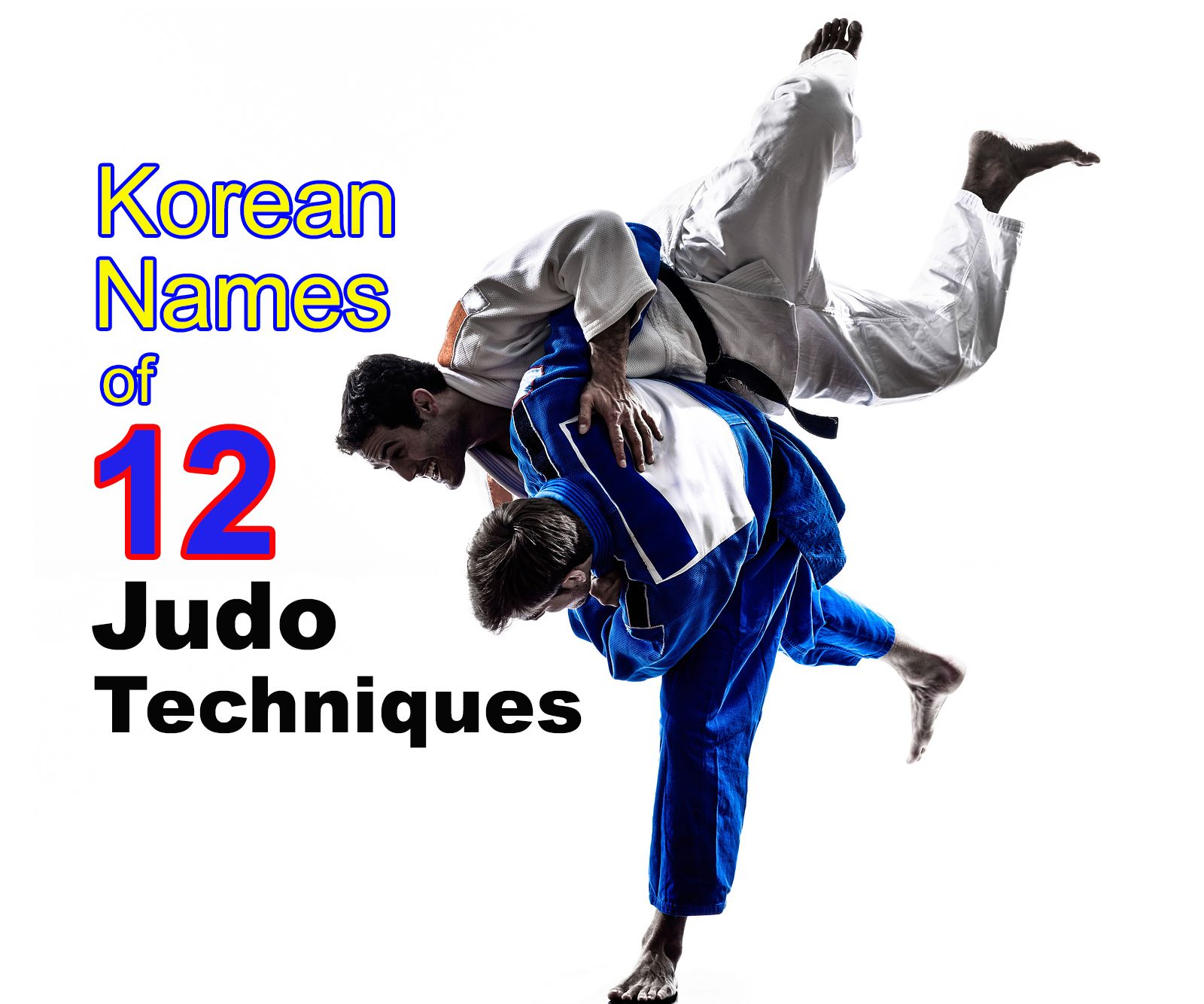 Judo Techniques In Korean Hangul Is Aligned With The Core