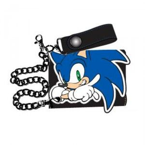 Sonic Leather Wallet Black Wallet Sonic The Hedgehog Tri