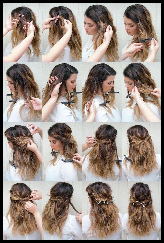 поэтапные прически на длинные волосы фото всех фотках