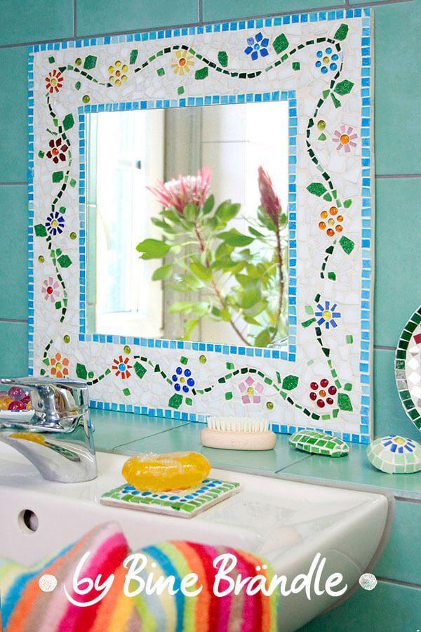 Mosaik spiegelrahmen - Mosaiksteine spiegel ...