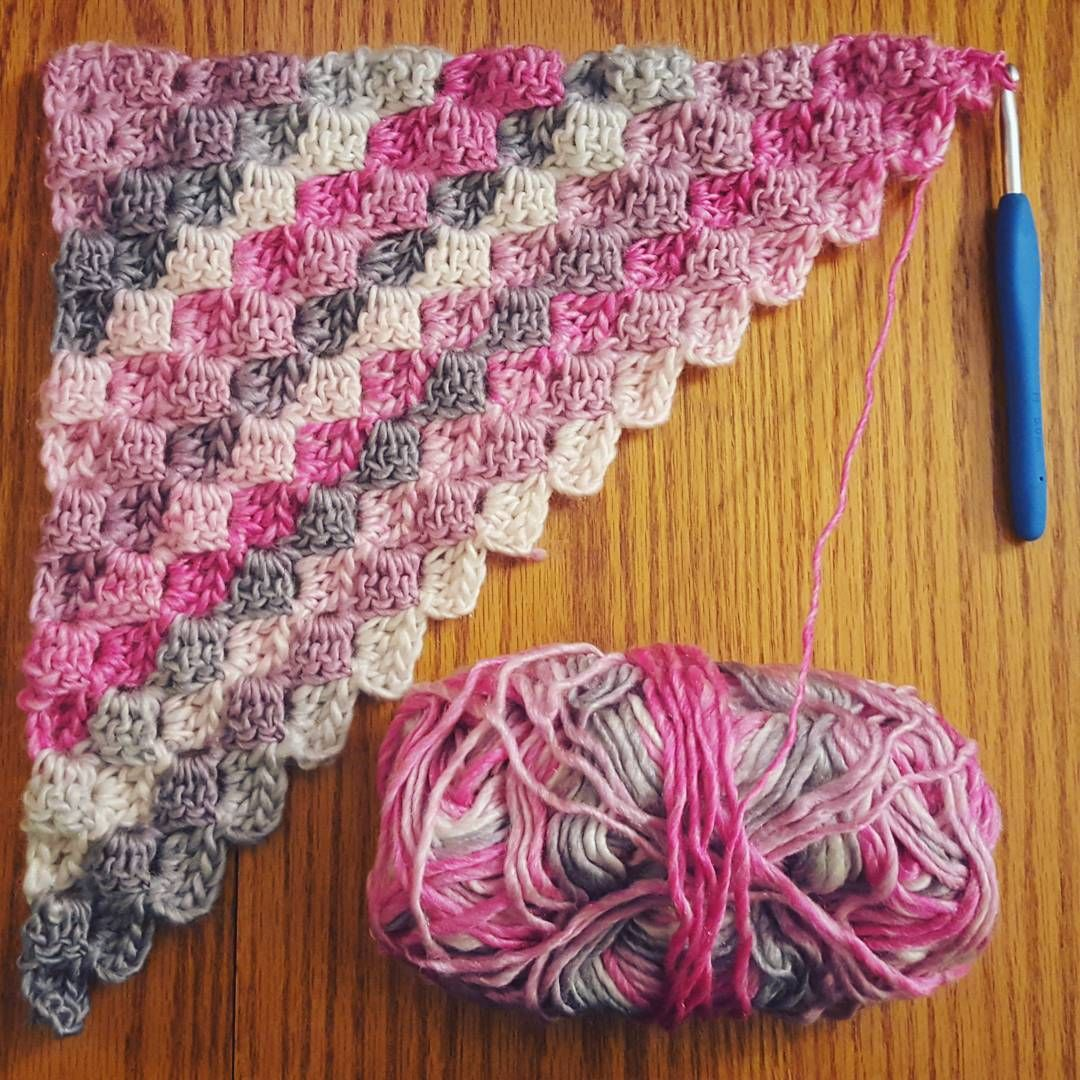 Picture of a corner-to-corner blanket beginning by cozysoulcrochet ...