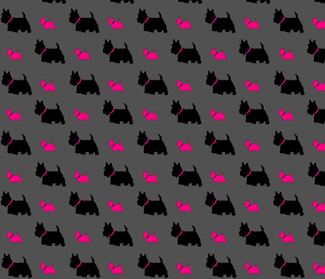 Scottie Dog Pink By C S Fabric By Carylpritchard On Spoonflower Custom Fabric Scottie Dog Dog Pattern Fabric