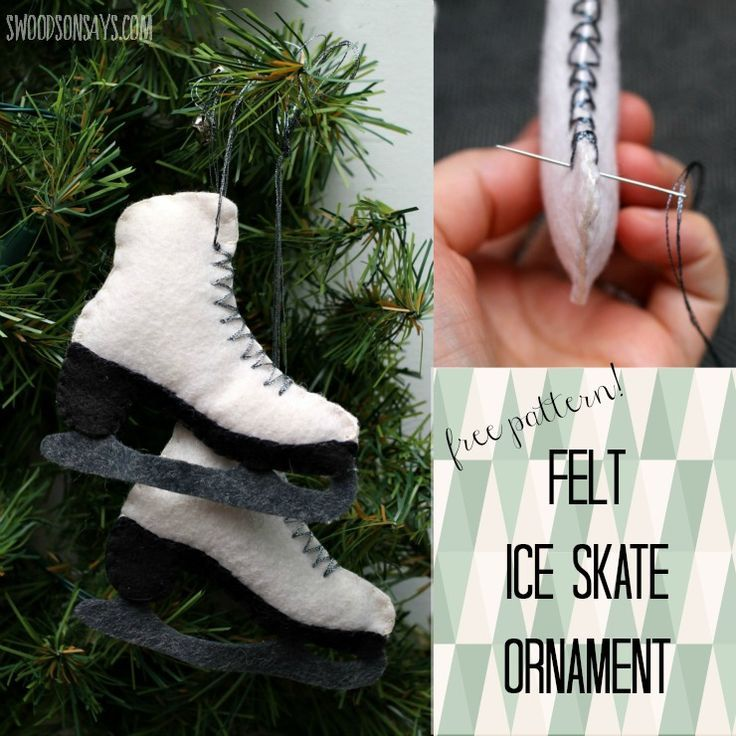 Free Felt Ice Skate Ornament Pattern | Felting, Ornament and Craft