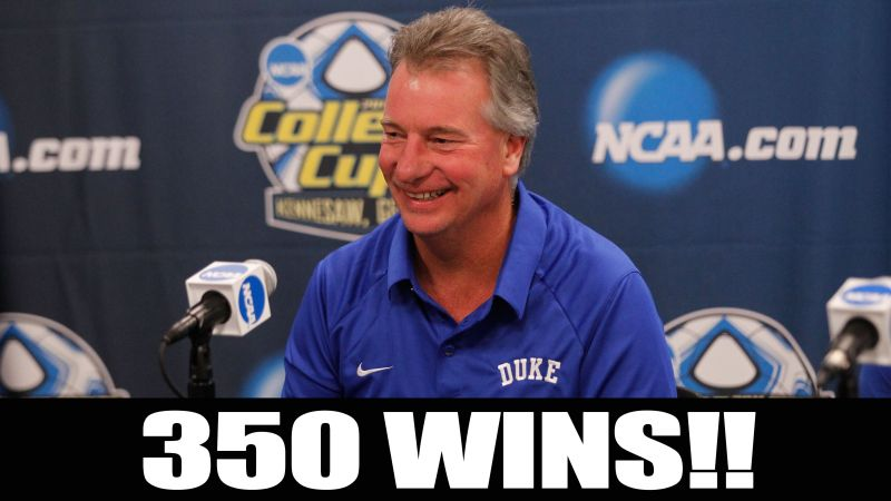 Church Nets 350th Career Victory As Head Coach Coach Womens Soccer Duke University