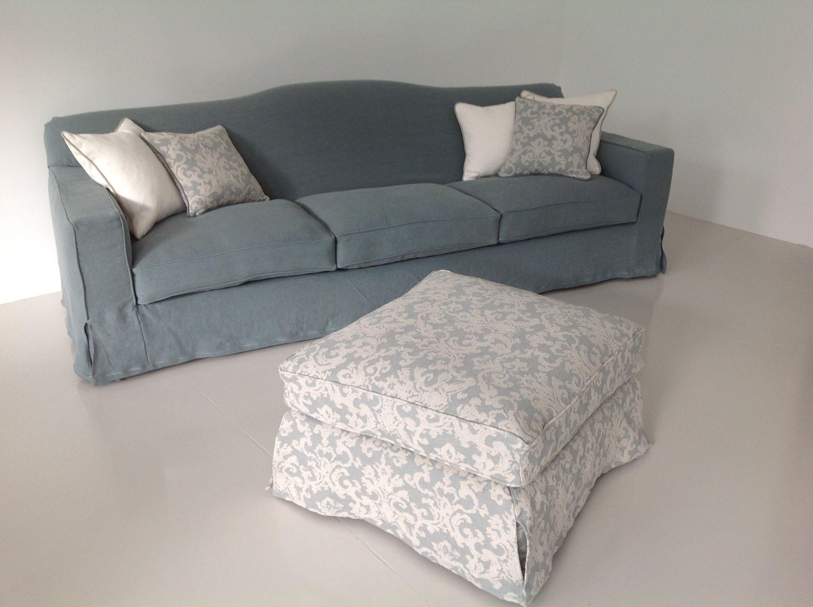 Divano cambridge in lino froisse 39 con cuscini arred e for Cuscini arredo divano