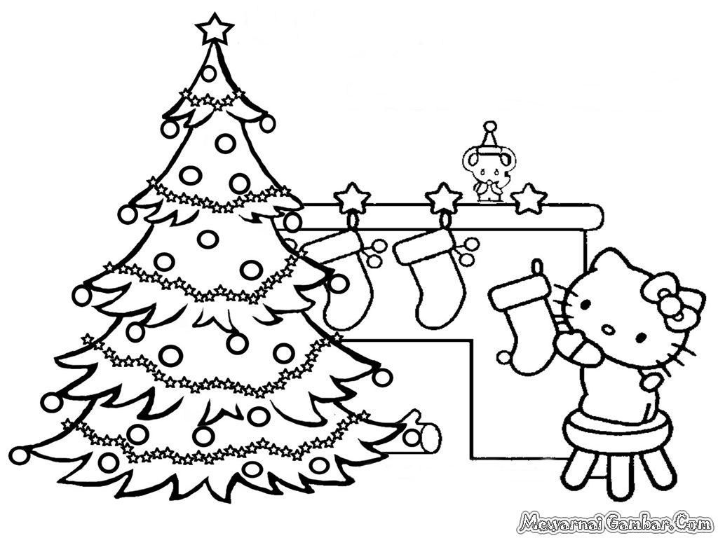 Gambar Mewarnai Kartun Natal