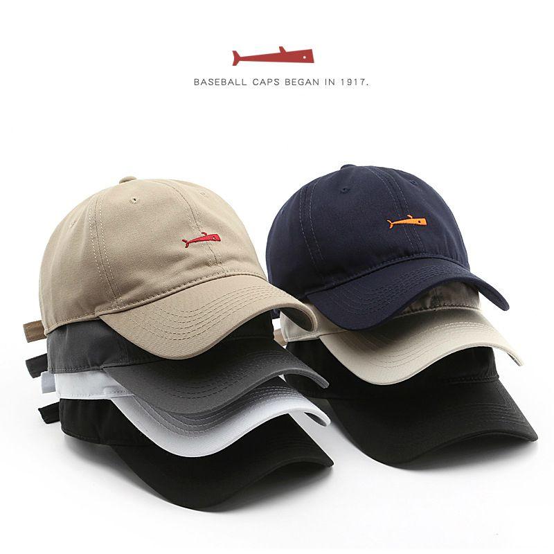 Men/'s Baseball Caps For Men Cap Style Women Hat Snapback Embroidery Fish Cap