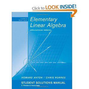 Download elementary linear algebra by howard anton 10th