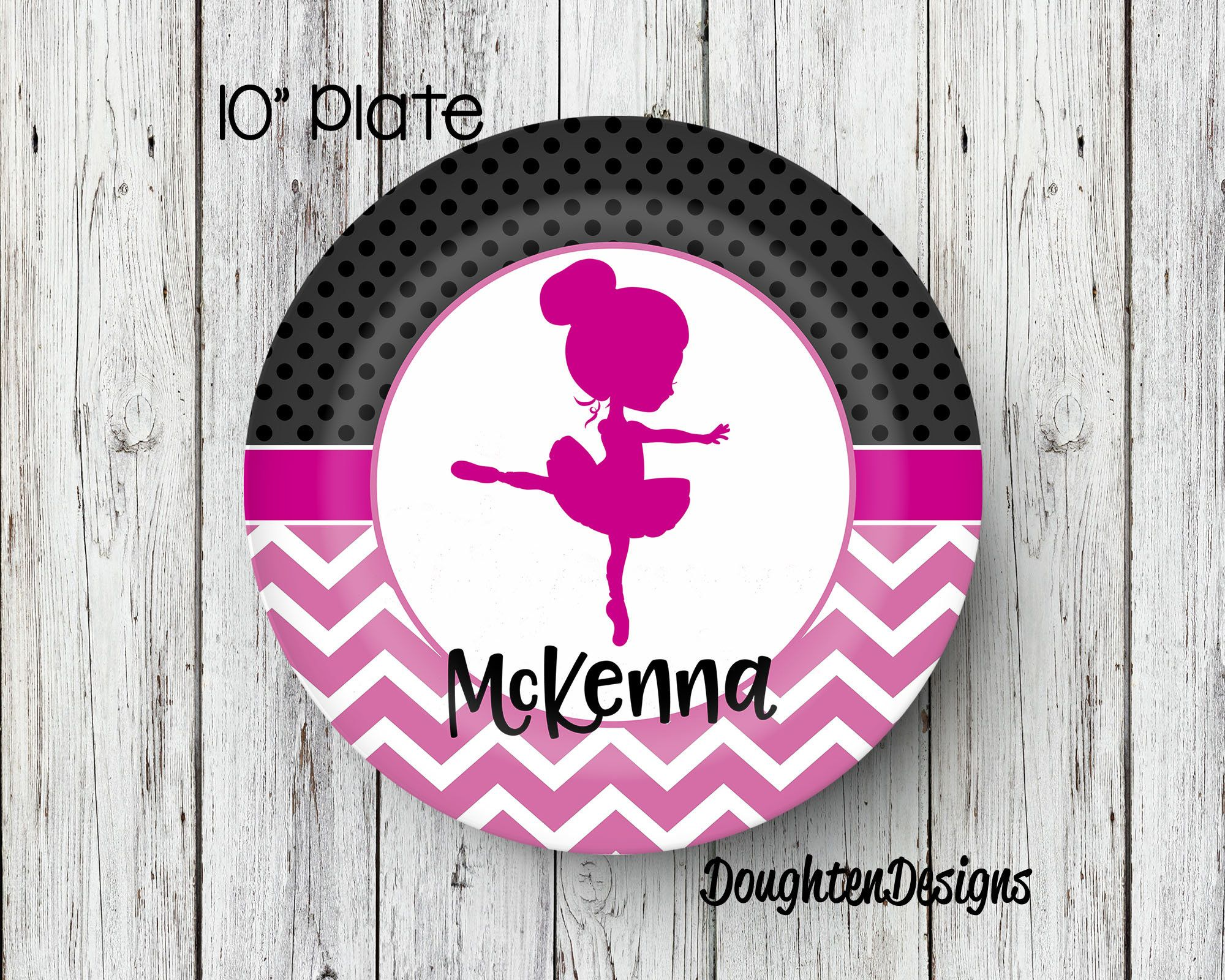 Personalized Name Plate Dancer Plate Personalized Melamine Plate Kids Dinner Plate Toddler & Personalized Name Plate Dancer Plate Personalized Melamine Plate ...