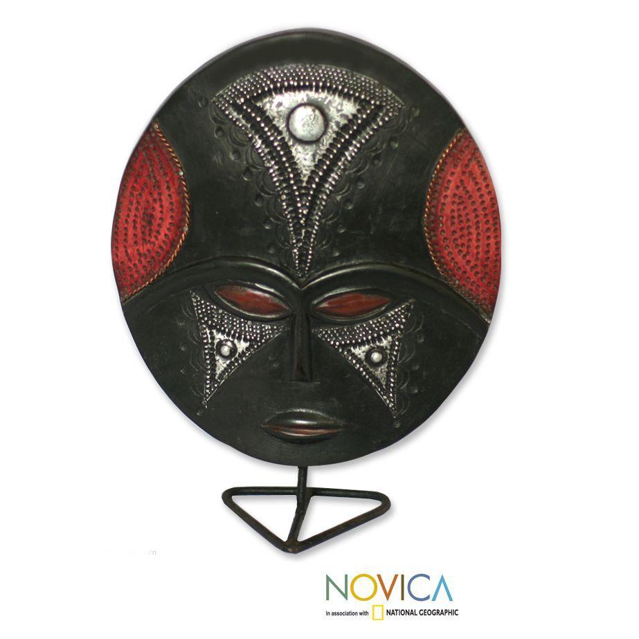 African Mask Decor Novica Handcrafted Sese 'wednesday's Girl' African Mask Handmade