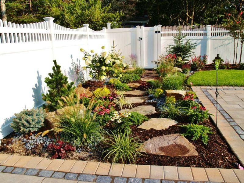 Idee Fur Einen Steingarten Zum Verschonern Der Terrasse Gartengestaltung Ideen Gartengestaltung Teichlandschafts