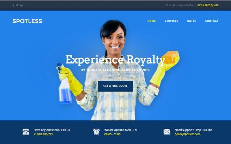 Spotless WordPress Cleaning Service Company Theme   WordPress Themes ...