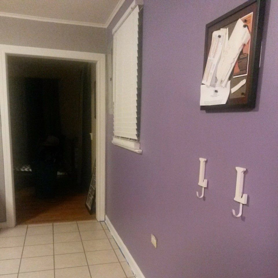 Gray Kitchen Accent Wall: Grey With A Purple Accent Wall... My Kitchen Wall