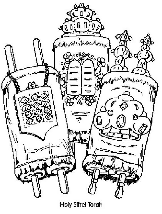 Jewish Coloring Pages for Kids Simchat Torah Simchat