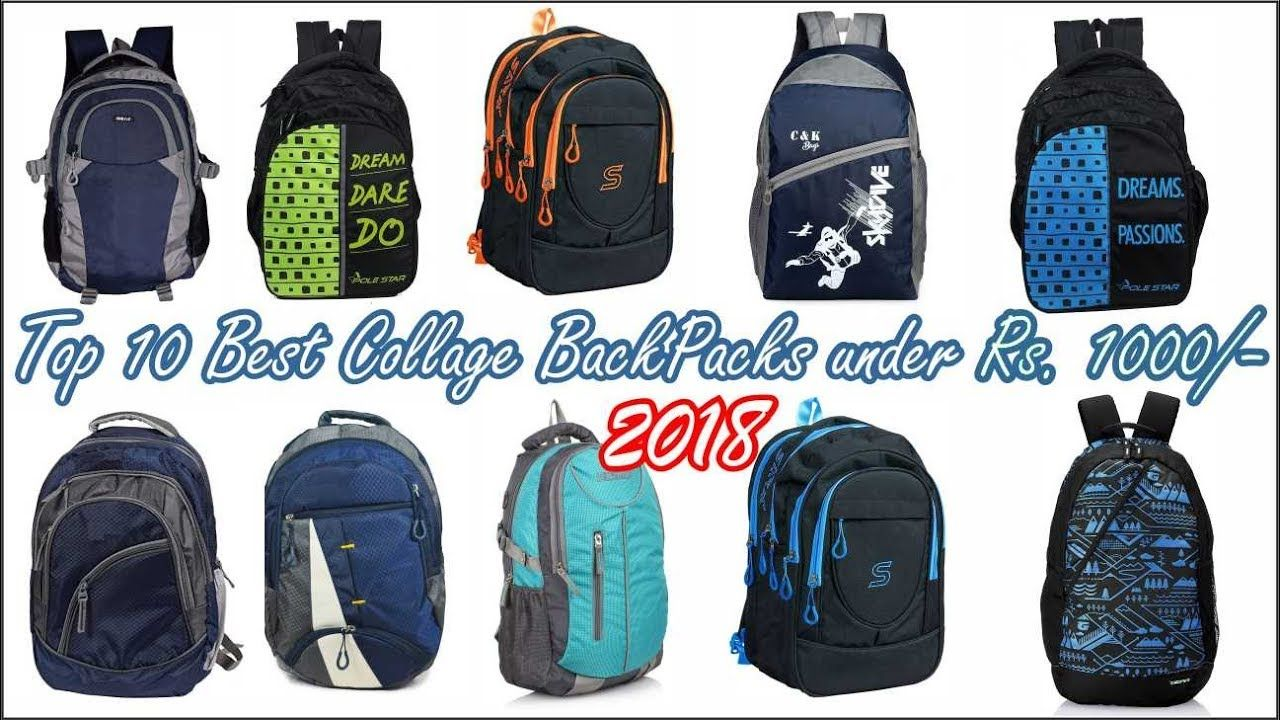 Top 10 Best Collage BackPacks under Rs. 1000 -  786133ec198f2