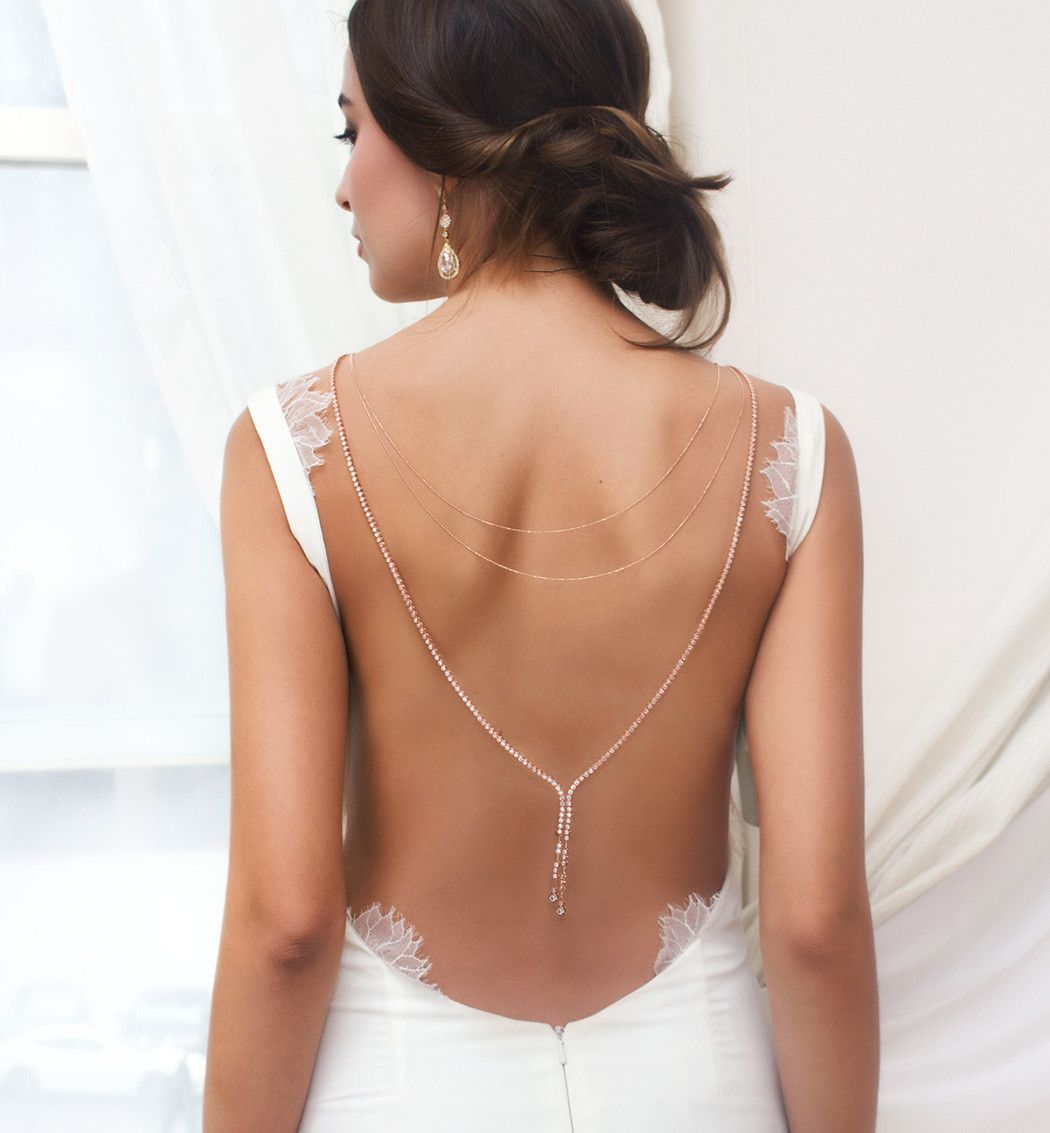 Marcia back necklace silver bridal jewellery sets silver bridal