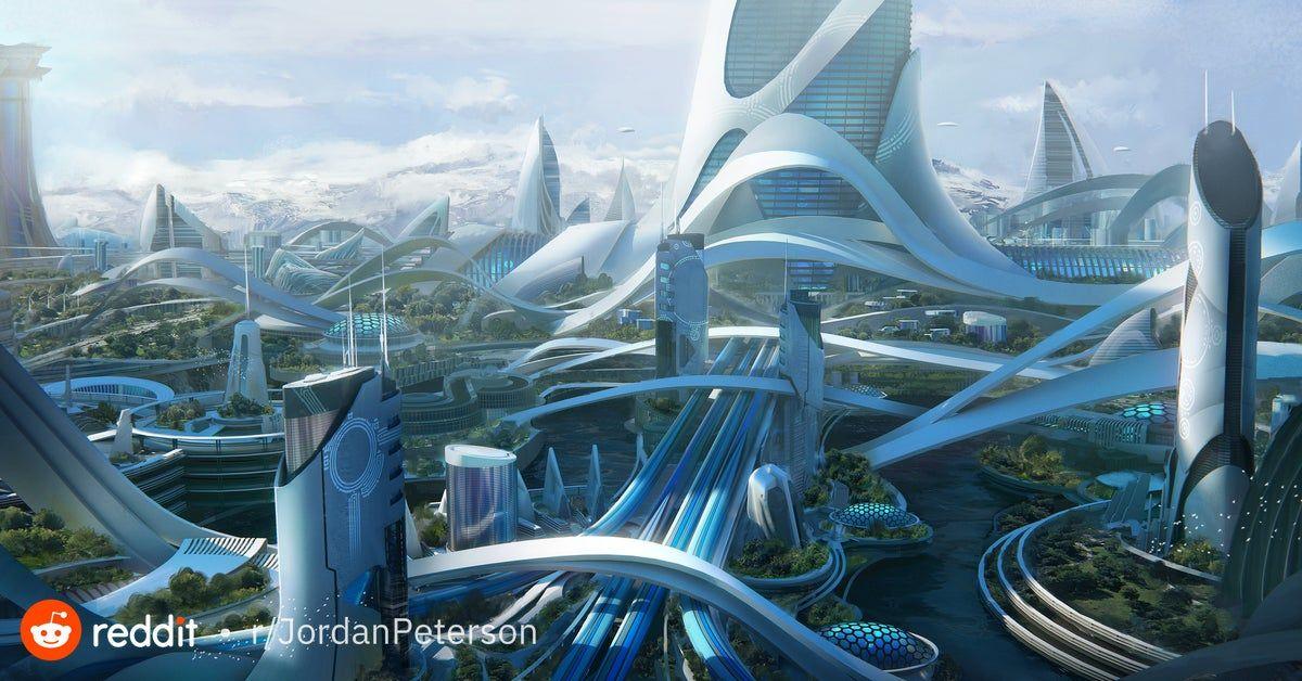 Solarpunk Future City Futuristic Architecture Futuristic City