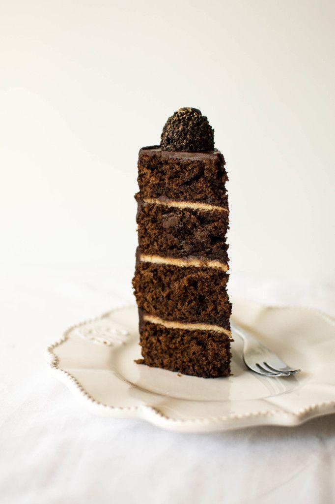 Dark Ganache And Marzipan Birthday Cake Recipe Butter And