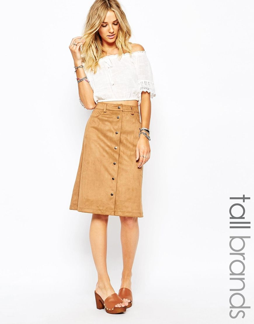 Lost Ink Full Midi Skirt in Textured Mono Print   Full Midi Skirt ...