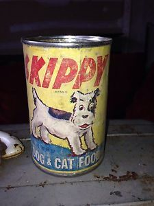 Vintage Skippy Can Dog Food Details About Rare Skippy Dog Cat