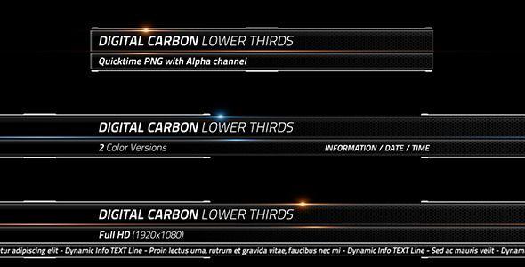 Digital Carbon Lower Thirds Lower Thirds Lower Digital