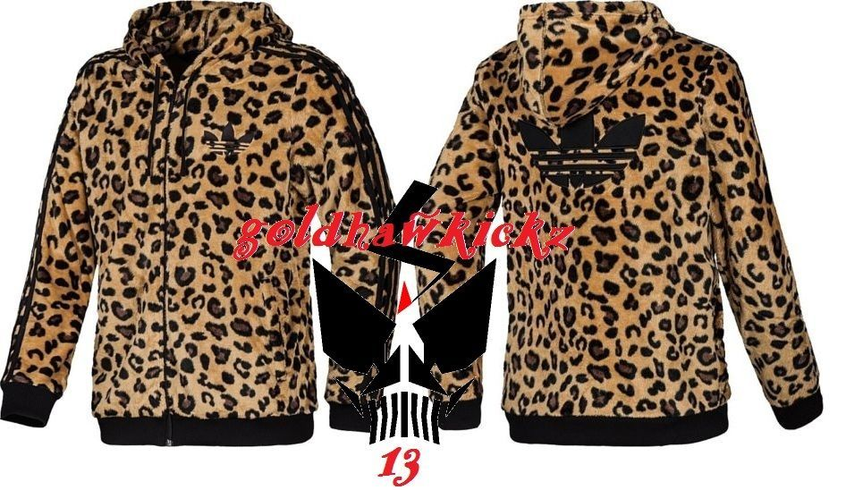 3d4507a5cc7e ADIDAS ORIGINALS MEN SHERPA LEOPARD HOODIE TRACK JACKET firebird jeremy  scott  adidas  hoodie