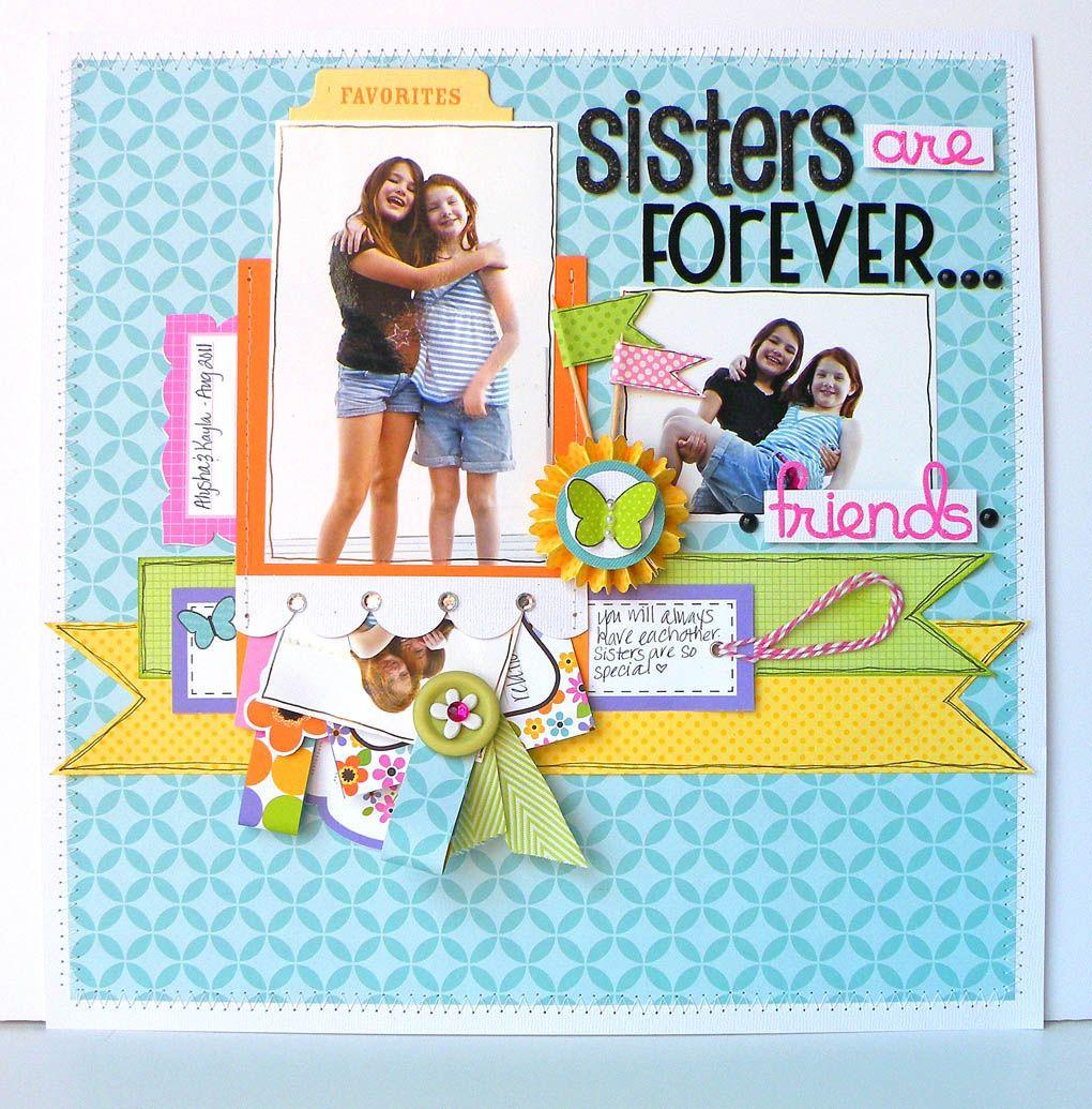 Scrapbook ideas sister - Doodlebug Design Inc Blog Love This For Sister S In Christ Are Forever 3 Design Layoutsscrapbooking