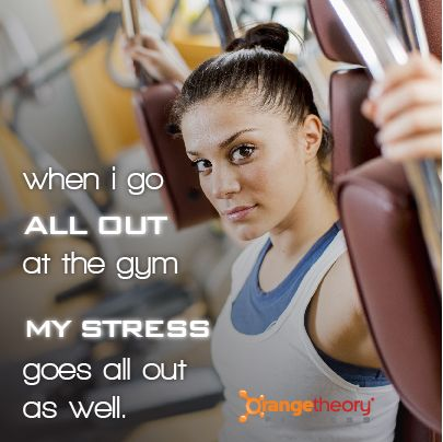 A Good Workout Is The Best Stress Reliever With Images Orange