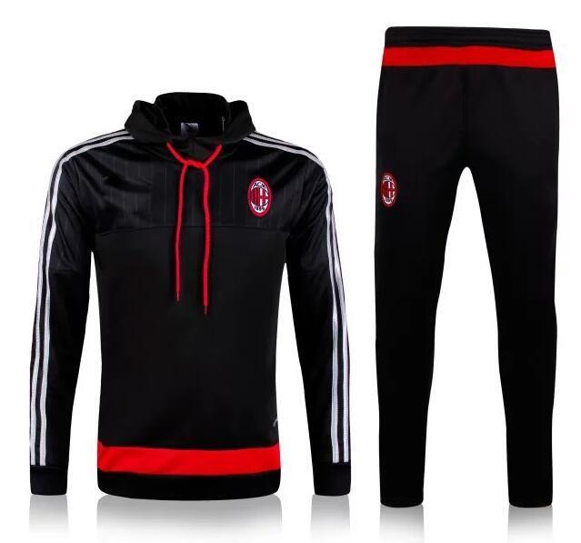 6a0eb4aa8f50c 2016 2017 Camiseta AC Milan Chaqueta Negro Rojo